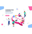 wifi concept isometric vector image vector image