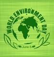 world environment day card design vector image vector image