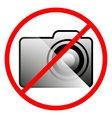 Icon ban on the use of the camera vector image