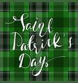 handwritten saint patricks day greetings vector image