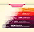 Colorful Numbered Banners vector image