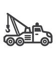 tow truck line icon transport and vehicle vector image