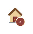 a house with the text 5g vector image