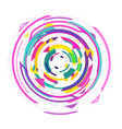 abstract design geometric colorful spinning retro vector image vector image