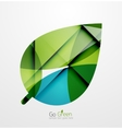 Abstract green leaf concept vector image vector image