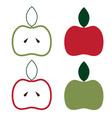 apples set design template vector image vector image