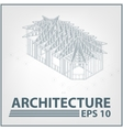 Architecture house project vector image vector image