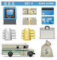 Bank Icons Set 4 vector image vector image