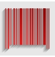 Bar code sign vector image vector image