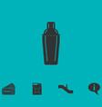 bar shaker icon flat vector image vector image