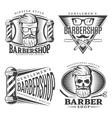 Barbershop Design Elements Set vector image