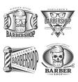 Barbershop Design Elements Set vector image vector image