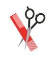 barbershop scissor with comb vector image vector image