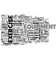 best exercise equipment text word cloud concept vector image vector image