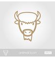 Bison buffalo ox icon Animal head symbol vector image