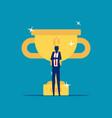 business achievement concept flat cartoon vector image