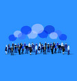business social and communication concept people vector image vector image