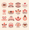 candy shop badges sweets cookie cupcakes lollipop vector image