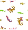 Chameleon pattern cartoon style vector image vector image