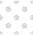 choco flower icon outline style vector image vector image