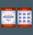 christmas sale catalog design business flyer vector image