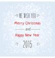 Christmas typography vector image vector image