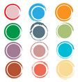 circle with brush edge vector image vector image