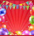 color balloon banner vector image vector image