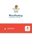 creative snowman logo design flat color logo vector image