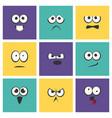 cute emoji with different emotive feelings set vector image vector image