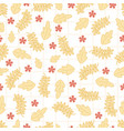cute flower seamless pattern background vector image vector image