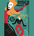 dancing couple artistic poster design vector image
