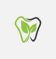 dental logo icon natural dental icon dentist vector image