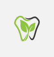 dental logo icon natural icon dentist vector image