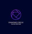 diamond line art template design vector image vector image