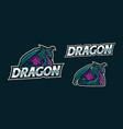 dragom mascot logo design vector image