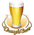 Draught beer label vector image vector image