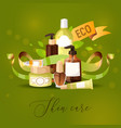 eco cosmetic product skincare bio cream vector image