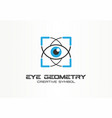 eye geometry healthcare tech creative symbol vector image vector image