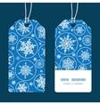 falling snowflakes vertical stripe frame pattern vector image vector image