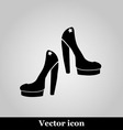 Female shoes icon on grey background vector image vector image