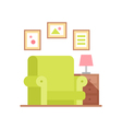 Flat armchair in colorful cartoon style vector image vector image