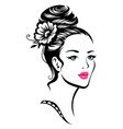 girl with elegant hairdress vector image vector image