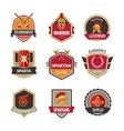 Gladiator Emblems Set vector image vector image