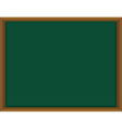 Green board with wooden frame vector image vector image