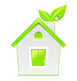 green house icon ecology concept vector image