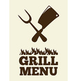 grill menu vector image vector image