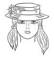 hand-drawn fashion model vector image vector image