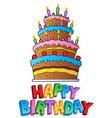 happy birthday topic image 2 vector image