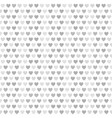 heart pattern gray and white seamless vector image vector image